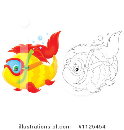 1125454 Royalty Free Fish Clipart Illustration on Coloring Sheets Of Sea Anemones