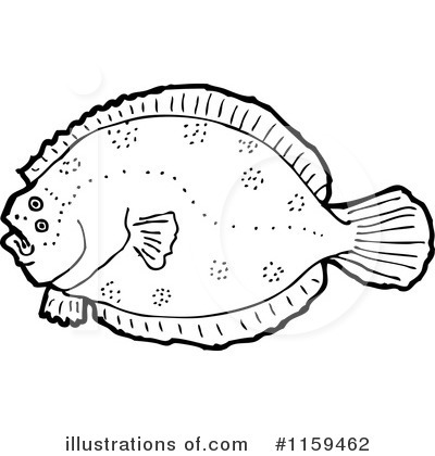 Flounder Clipart #1159462 by lineartestpilot