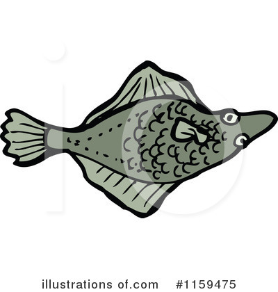 Flounder Clipart #1159475 by lineartestpilot