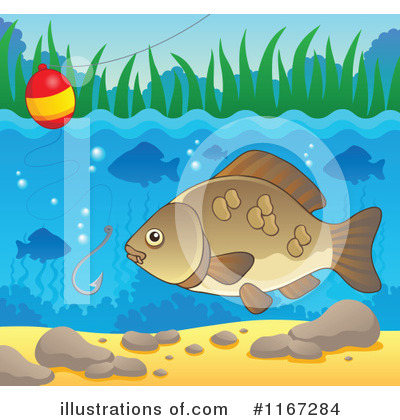 Royalty-Free (RF) Fish Clipart Illustration by visekart - Stock Sample #1167284