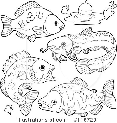 Royalty-Free (RF) Fish Clipart Illustration by visekart - Stock Sample #1167291