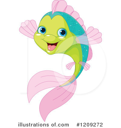 Royalty-Free (RF) Fish Clipart Illustration by Pushkin - Stock Sample #1209272