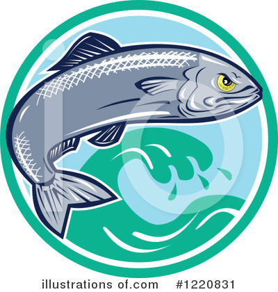 Royalty-Free (RF) Fish Clipart Illustration by patrimonio - Stock Sample #1220831