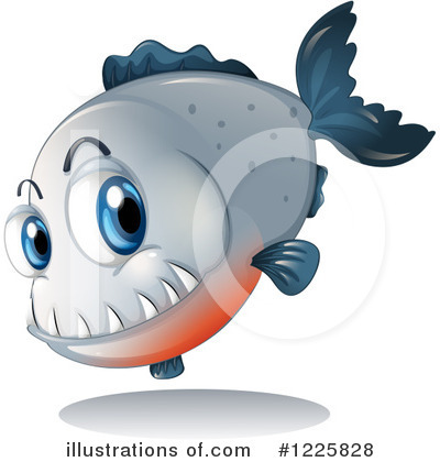 Piranha Clipart #1225828 by Graphics RF