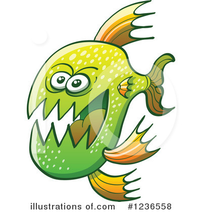 Piranha Clipart #1236558 by Zooco