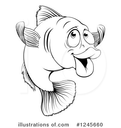 Royalty-Free (RF) Fish Clipart Illustration by AtStockIllustration - Stock Sample #1245660