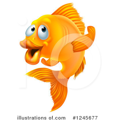 Goldfish Clipart #1245677 by AtStockIllustration