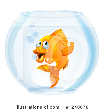 Goldfish Clipart #1248678 by AtStockIllustration