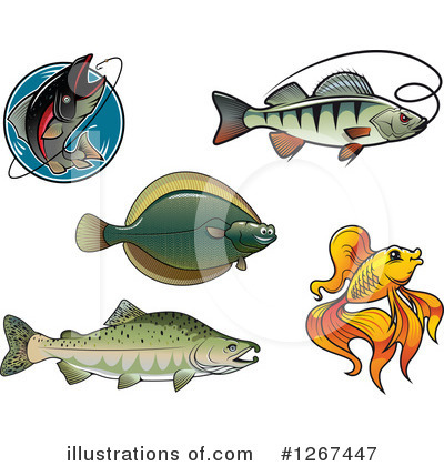 Flounder Clipart #1267447 by Vector Tradition SM
