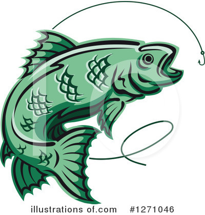 Fishing Clipart #1271046 by Vector Tradition SM