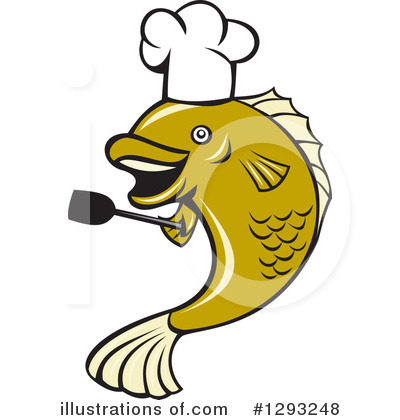 Chef Fish Clipart #1293248 by patrimonio