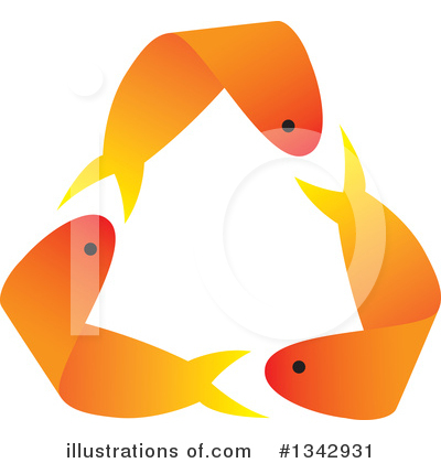 Goldfish Clipart #1342931 by ColorMagic