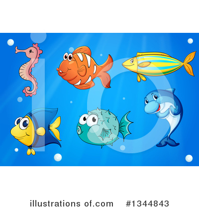 Seahorse Clipart #1344843 by Graphics RF