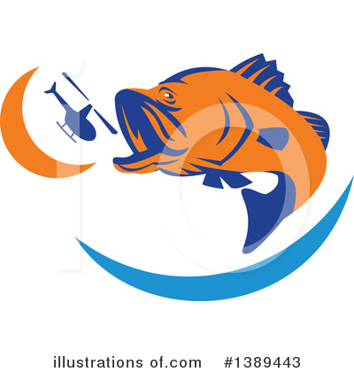 Barramundi Clipart #1389443 by patrimonio