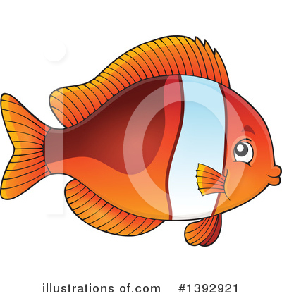 Clownfish Clipart #1392921 by visekart