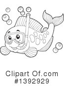 Fish Clipart #1392929 by visekart