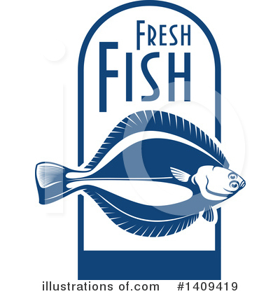 Flounder Clipart #1409419 by Vector Tradition SM