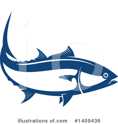 Salmon Clipart #1409436 by Vector Tradition SM