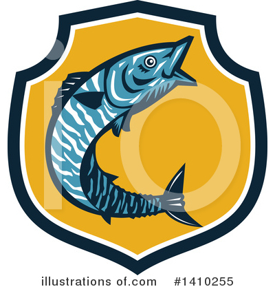 Royalty-Free (RF) Fish Clipart Illustration by patrimonio - Stock Sample #1410255