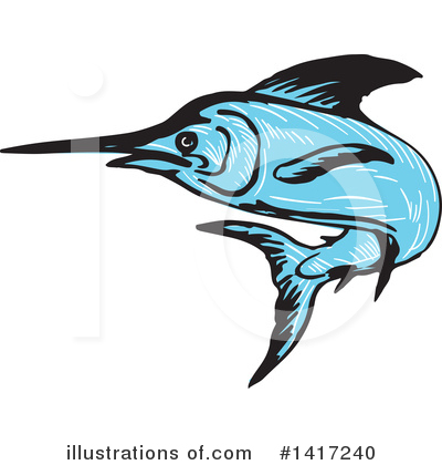 Marlin Clipart #1417240 by patrimonio