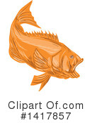 Fish Clipart #1417857 by patrimonio
