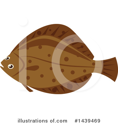 Flounder Clipart #1439469 by Vector Tradition SM