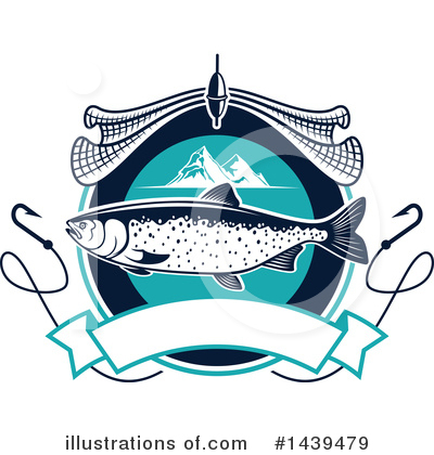 Salmon Clipart #1439479 by Vector Tradition SM