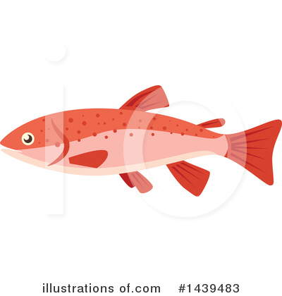 Salmon Clipart #1439483 by Vector Tradition SM