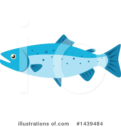 Salmon Clipart #1439484 by Vector Tradition SM