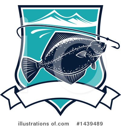 Flounder Clipart #1439489 by Vector Tradition SM