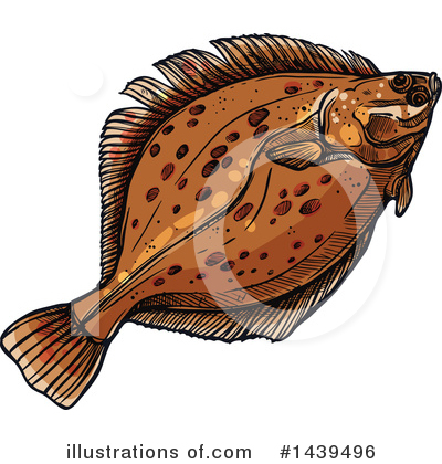 Flounder Clipart #1439496 by Vector Tradition SM