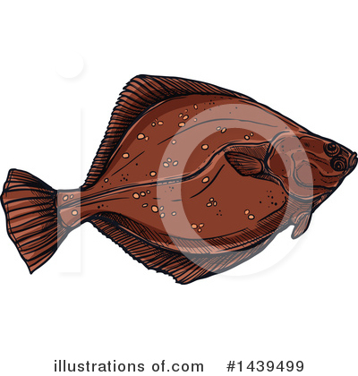 Flounder Clipart #1439499 by Vector Tradition SM