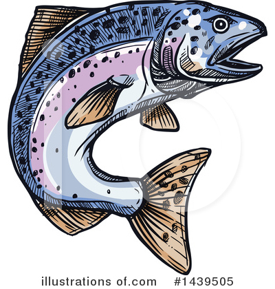 Salmon Clipart #1439505 by Vector Tradition SM