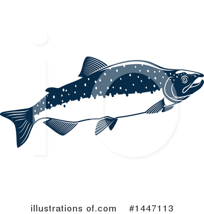 Salmon Clipart #1447113 by Vector Tradition SM
