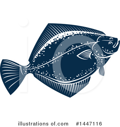 Flounder Clipart #1447116 by Vector Tradition SM