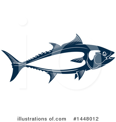 Tuna Clipart #1448012 by Vector Tradition SM