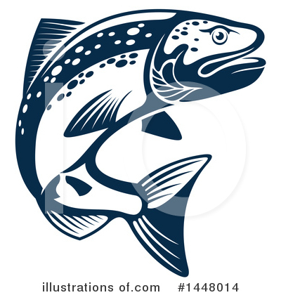 Salmon Clipart #1448014 by Vector Tradition SM