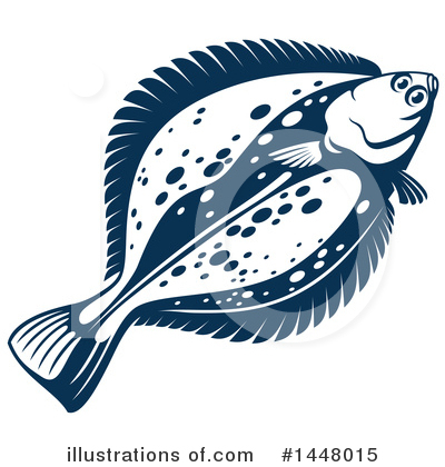 Flounder Clipart #1448015 by Vector Tradition SM
