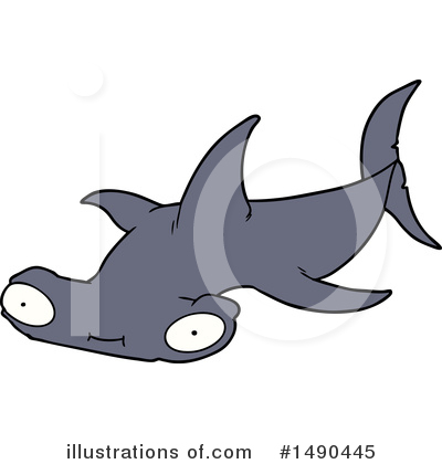 Hammerhead Shark Clipart #1490445 by lineartestpilot