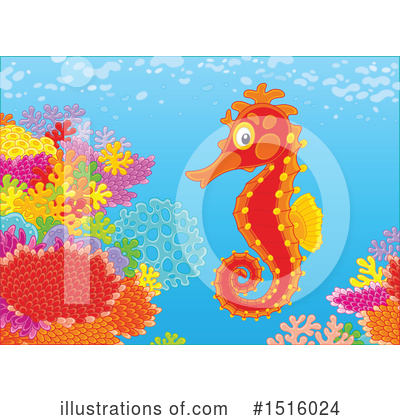Seahorse Clipart #1516024 by Alex Bannykh
