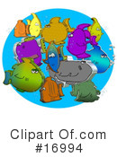 Royalty-Free (RF) Fish Clipart Illustration #16994