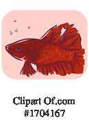 Fish Clipart #1704167 by BNP Design Studio