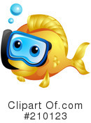 Royalty-Free (RF) Fish Clipart Illustration #210123