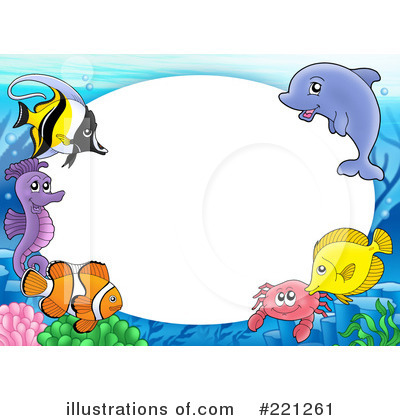 Royalty-Free (RF) Fish Clipart Illustration by visekart - Stock Sample #221261