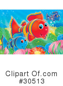 Royalty-Free (RF) fish Clipart Illustration #30513