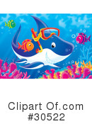 Royalty-Free (RF) Fish Clipart Illustration #30522