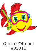 Royalty-Free (RF) Fish Clipart Illustration #32313