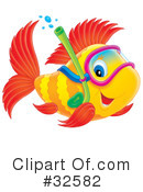 Royalty-Free (RF) Fish Clipart Illustration #32582