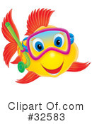 Royalty-Free (RF) Fish Clipart Illustration #32583