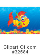 Royalty-Free (RF) Fish Clipart Illustration #32584